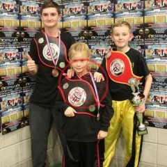 Harvey Steele WKA North West Light-Contact Champion, Ellie O'Brien WKA North West Light-Contact Champion & Richard Jandrell WKA English Light Contact Champion, well done to these three fighters.