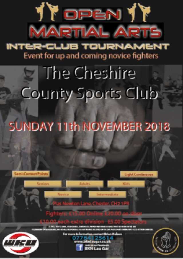 Cheshire Inter Club Open - 11th November 2018