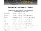 CLASS RETURN UPDATE